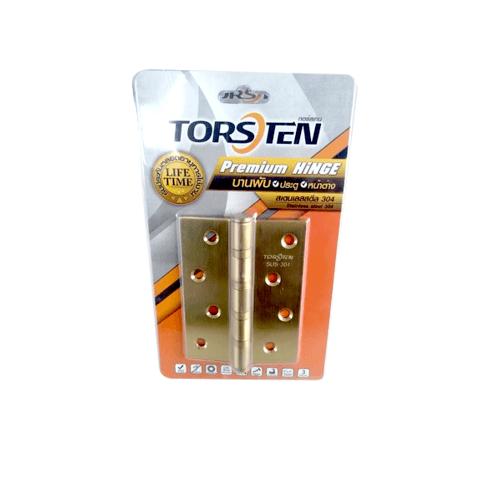 TORSTEN บานพับสเตนเลสเกรด304 4x3x2mm 3ชิ้น HSS304-4320G3 สีทอง