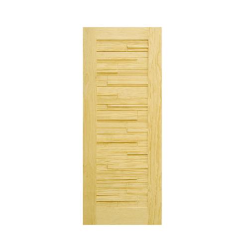 D2D ประตูไม้สนนิวซีแลนด์ ขนาด 80x200 cm. D2D-501