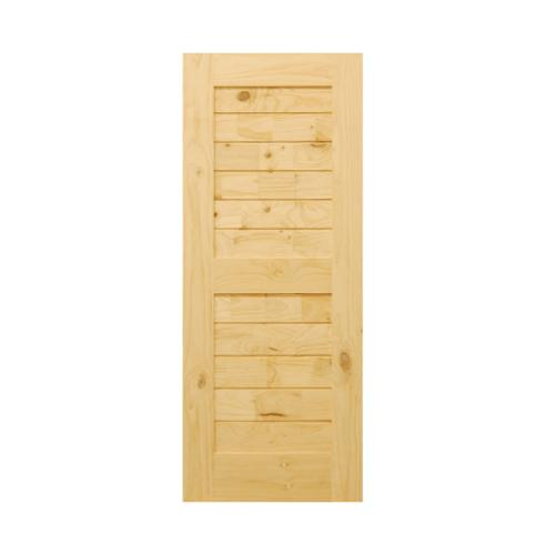 D2D ประตูไม้สนนิวซีแลนด์ ขนาด  80x200 ซม. Eco Pine - 006 ธรรมชาติ