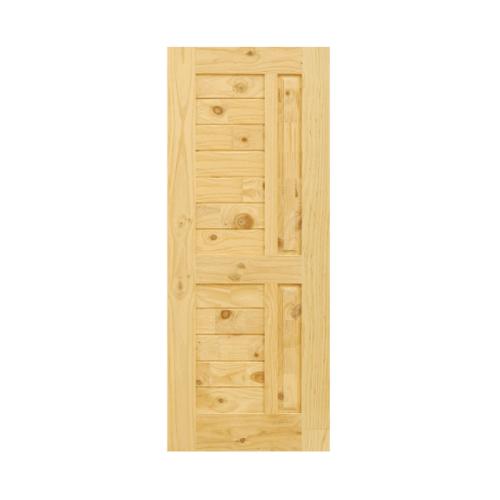 D2D ประตูไม้สนนิวซีแลนด์ ขนาด 90x200 ซม. Eco Pine - 007 ธรรมชาติ