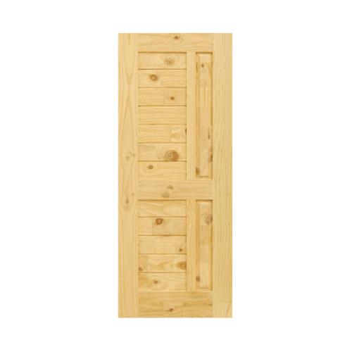 D2D ประตูไม้สนนิวซีแลนด์ ขนาด 100x200 ซม. Eco Pine-007 น้ำตาลอ่อน