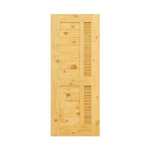 D2D ประตูไม้สนนิวซีแลนด์ ขนาด  70x200 ซม. Eco Pine-019