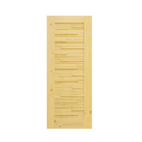 D2D ประตูไม้สนนิวซีแลนด์ ขนาด  80x200 ซม. D2D-112