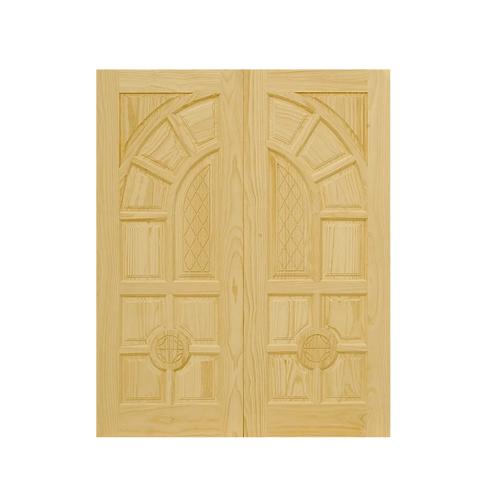 D2D ประตูไม้สนนิวซีแลนด์ ขนาด 80x200 cm. 305 สีน้ำตาลอ่อน