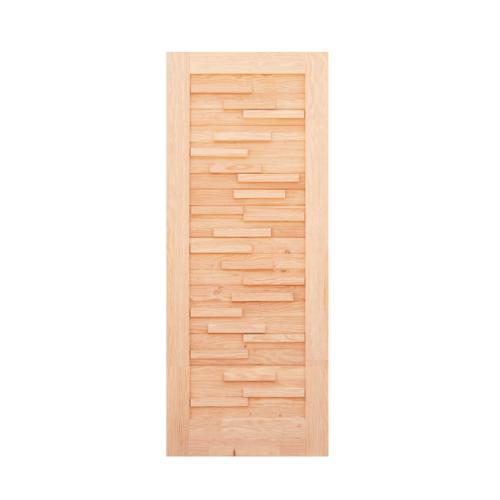 D2D ประตูไม้สนนิวซีแลนด์  ขนาด 90x200 ซม. Eco Pine - 030 ธรรมชาติ