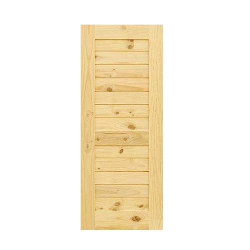 D2D ประตูไม้สนนิวซีแลนด์ ขนาด 80x180cm. Eco Pine-006