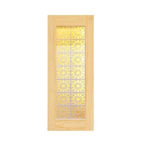D2D ประตูไม้สนนิวซ๊แลนด์ ขนาด 90x200 ซม. D2D-601 น้ำตาลอ่อน