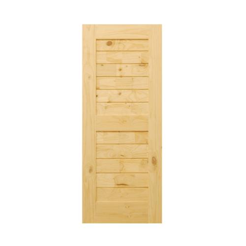 D2D ประตูไม้สนนิวซีแลนด์ ขนาด  90x200 ซม. Eco Pine-006 ธรรมชาติ