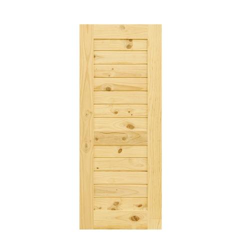 D2D ประตูไม้สนนิวซีแลนด์ ขนาด 70x200 cm. Eco Pine-006 ธรรมชาติ