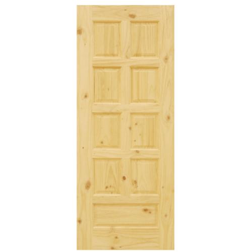 D2D ประตูไม้สนนิวซีแลนด์ ขนาด 80x180 ซม. Eco Pine - 002