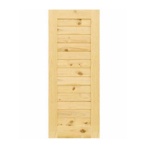 D2D ประตูไม้สนนิวซีแลนด์  ขนาด 100x200 ซม. Eco Pine - 001 ธรรมชาติ