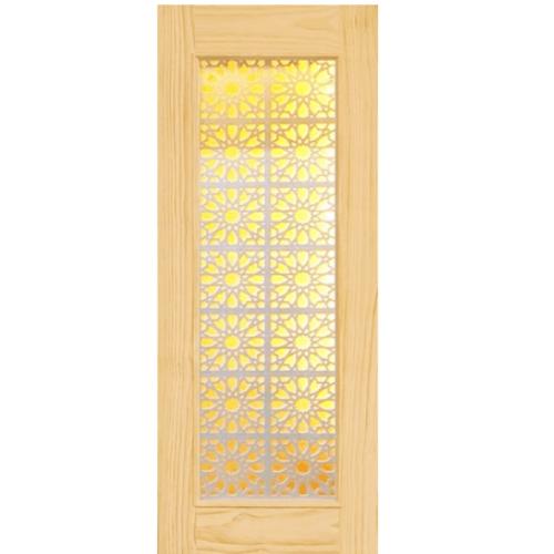 D2D ประตูไม้สนนิวซีแลนด์ ขนาด 95x200 cm. D2D-601