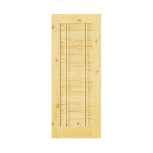 D2D ประตูไม้สนNz บานทึบทำร่อง  Eco Pine-Ezero 6 80x200cm. D2D Eco Pine - Ezero 6