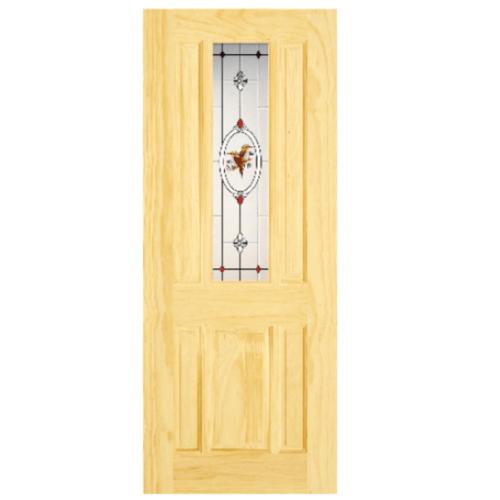 D2D ประตูไม้สนนิวซีแลนด์ ขนาด 70x200 cm. Eco Pine-028