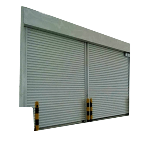 Wellingtan ประตูเหล็กม้วน ขนาด10000mm.x4950mm. D28 สีเทาอ่อน