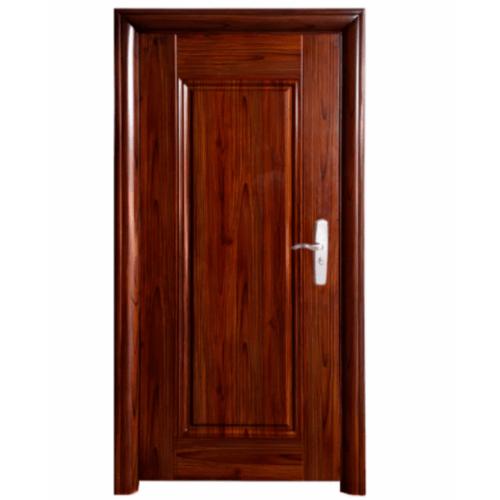 Wellingtan ชุดประตูเหล็กพร้อมวงกบ เปิดซ้าย เปิดออก ขนาด106x212x13ซม. หนา0.82 Hkai-C3L-out สีน้ำตาลเข้ม