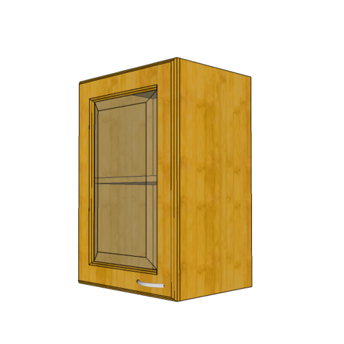 MJ ตู้แขวนบานกระจกตรงใส W604GL-T
