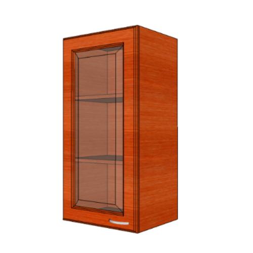 MJ ตู้แขวนบานกระจกตรงใส W804GL-CH