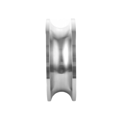 HUMMER ล้อสเตนเลส 304 ร่องกลม SSW304-76220 3 นิ้ว สีโครเมี่ยม