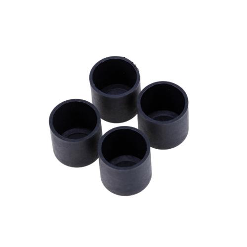 S.S.P. ยางขาโต๊ะกลม สวมนอก (4 ชิ้น/แพ็ค) 5/8 นิ้ว สีดำ