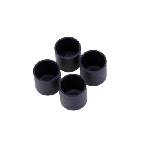 S.S.P. ยางขาโต๊ะกลม สวมนอก (4 ชิ้น/แพ็ค) 7/8 นิ้ว สีดำ