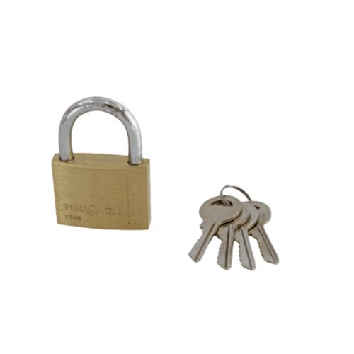TOSTEN กุญแจคล้องทองเหลืองระบบสปริง (ห่วงสั้น)ขนาด 50มม.  TS 50S
