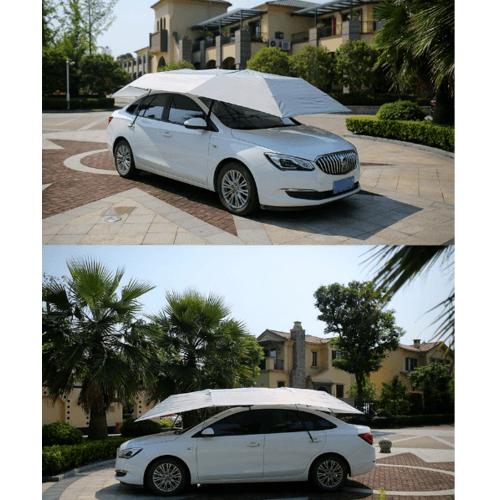 Cover ร่มรถยนต์ Semi-Auto ขนาด 2.1X4m CAUM-02  สีขาว