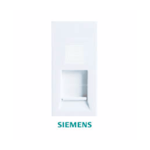 SIEMENS เต้ารับคอมพิวเตอร์ 8สาย DELTA azio สีขาว 5TG9 858-1PB01 ขาว