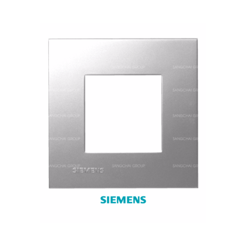 SIEMENS ฝา 2 ช่อง ขนาด 120 มม. DELTA azio สีเงิน 5TG9 860-8PB01 เงิน