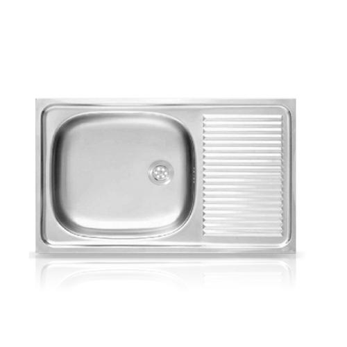 ADVANCE อ่างล้างจาน 1 หลุม 1 ที่พัก AV075 สเตนเลส