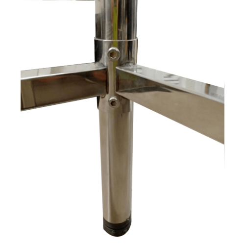 CROWN ขาตั้งอ่างล้างจาน 201 ขนาด 1.0 เมตร (98.5x48.2x76.6 ซม.)  WSF10050  สีโครเมี่ยม