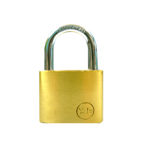 YALE กุญแจคล้อง ห่วงคล้องเหล็ก ขนาด 40 มม. YE1/40/122/1 ทองเหลือง