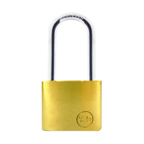 YALE กุญแจคล้อง ห่วงคล้องเหล็กยา ขนาด 50 มม. YE1/50/166/1 ทองเหลือง
