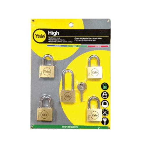 YALE กุญแจคล้อง ขนาด 45 มม. Y117D/45/127-4 ทองเหลือง