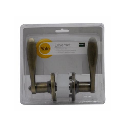 YALE กุญแจมือจับก้านโยก ระบบห้องน้ำ 836ABBKBS60 ทองเหลืองรมดำ