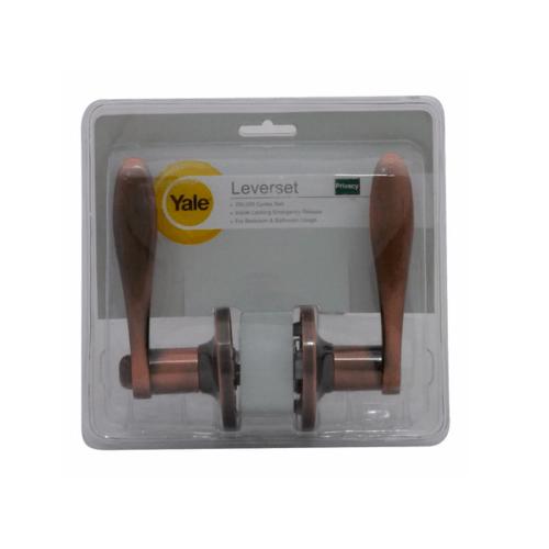 YALE กุญแจมือจับก้านโยก ระบบห้องน้ำ 836ACBKBS60  ทองแดงรมดำ