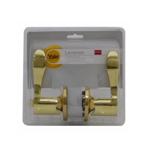 YALE กุญแจมือจับเขาควาย ระบบห้องทั่วไป 8381PBETBS60 ทองเหลืองเงา