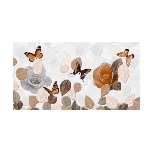 12x24 Mulberry Butterfly  Glossy น้ำตาล-ส้ม
