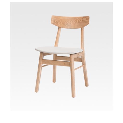 Pulito เก้าอี้รับประทานอาหาร เอริคขนาด 45x50x76ซม. สีธรรมชาติ-เบาะขาว วอลนัท