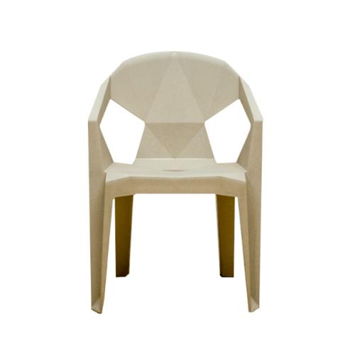 Pulito เก้าอี้ทรงเรขาคณิต  สีกากี  GGW002-KK