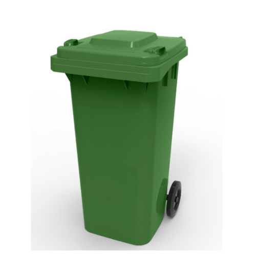 ICLEAN ถังขยะฝาเรียบ 120ลิตร  XDL-120-14G สีเขียว