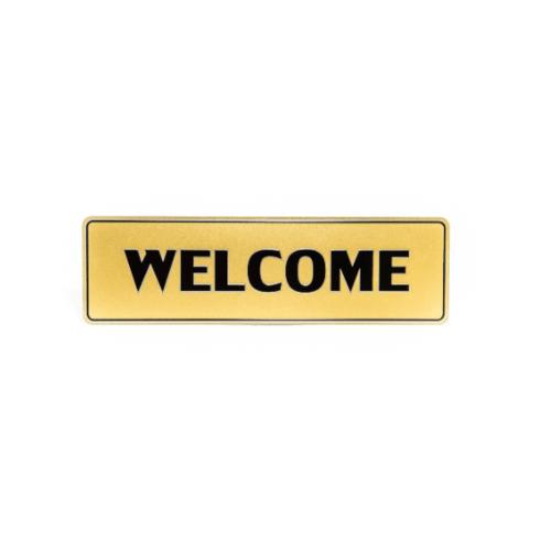 Cityart nameplate ป้าย WELCOME SGB9101 สีทอง