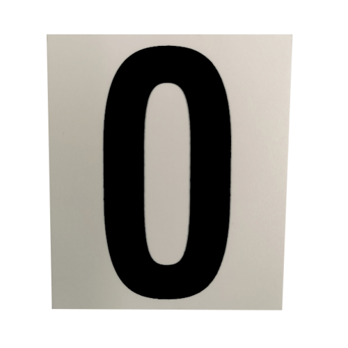 CITY ART ป้ายPP (ตัวอักษร O)  ขนาด 4.7x5.5 ซม. SGB1105-15 สีขาว