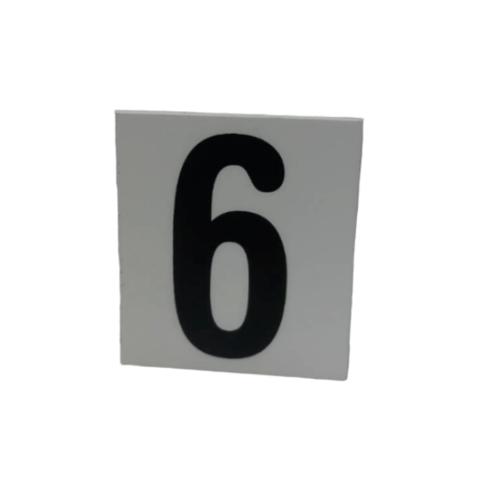 CITY ART ป้ายPP (ตัวเลข 6)  ขนาด 4.7x5.5 ซม. SGB1105-32