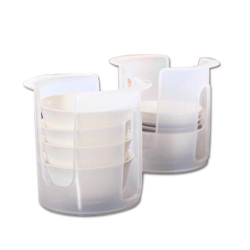 CLOSE ชั้นเก็บถ้วย ขนาด 13.8x16.8x15 ซม. สีใส ZDS058