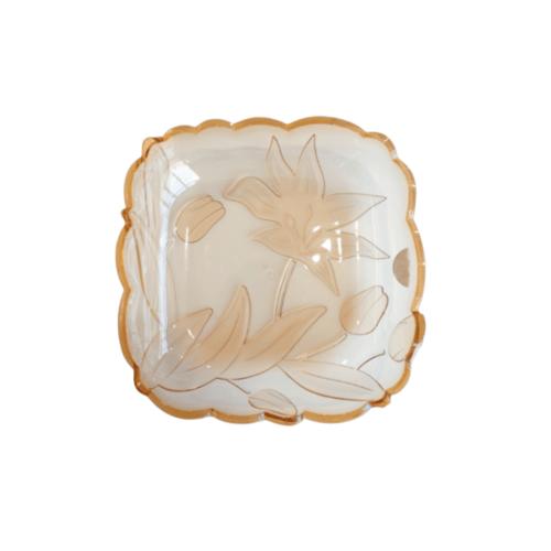 UCHI ถาดพลาสติก ขนาด Φ26*6.8 cm. ZHR005-BN สีน้ำตาล