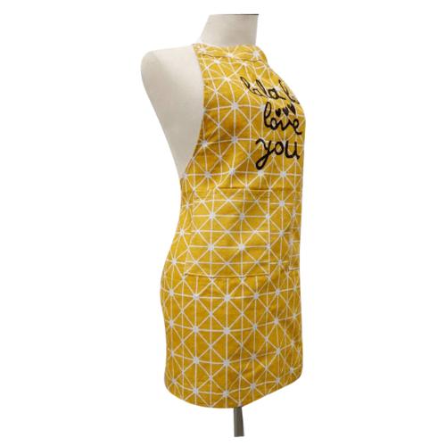 KATELL ผ้ากันเปื้อนแบบกันน้ำ ลายกราฟฟิค XFX045 สีเหลือง
