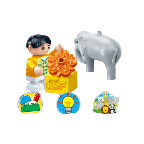 Sanook&Toys ของเล่นบล็อกตัวต่อชุดใหญ่ Elephant 9566