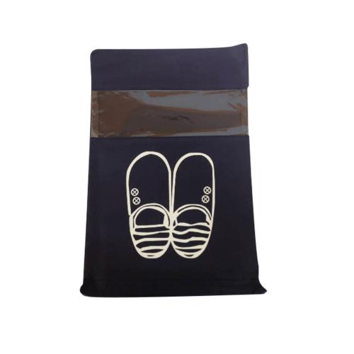 WETZLARS ถุงผ้าใส่รองเท้า Size-M แพ็ค 10ใบ  FCJ001-BU สีน้ำเงิน