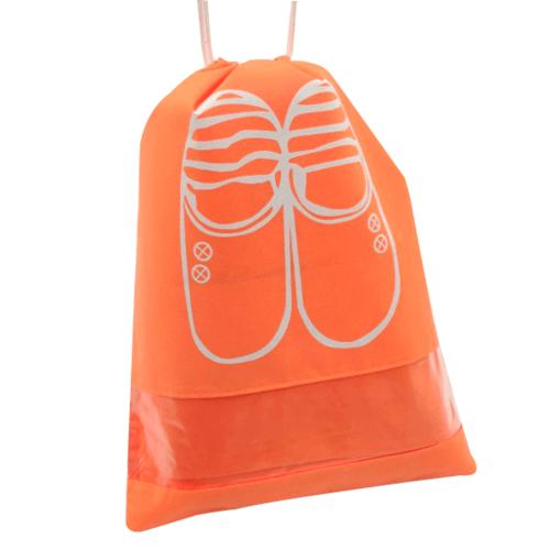 WETZLARS ถุงผ้าใส่รองเท้า Size-M&L  แพ็ค 10ใบ FCJ003-OG สีส้ม